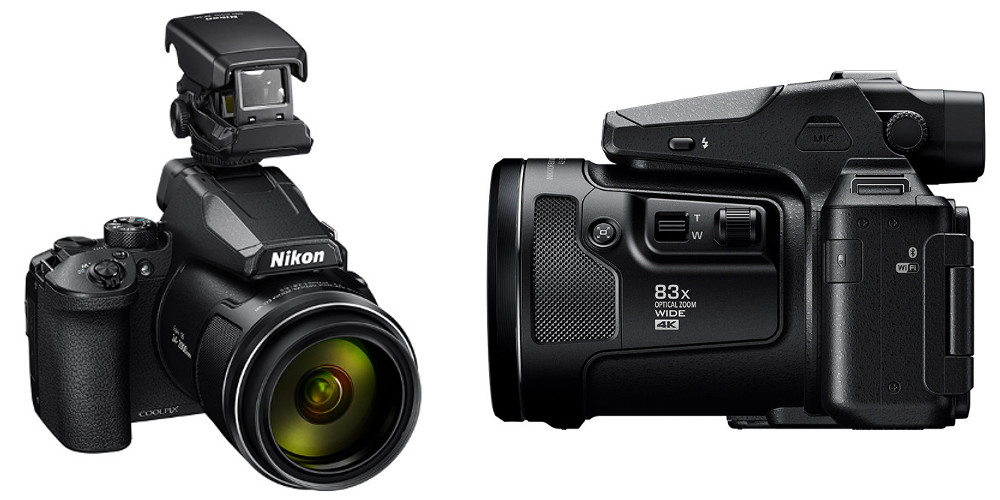 The new Nikon COOLPIX 950 with the new Side Dial, buttons, and other accessories.