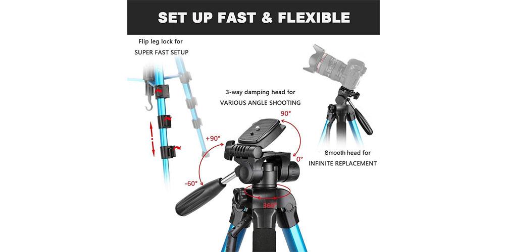 Victiv 72-inch Camera Tripod Image 1