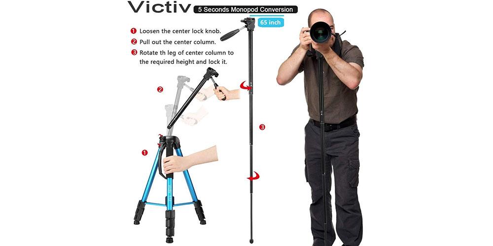 Victiv 72-inch Camera Tripod Image 3