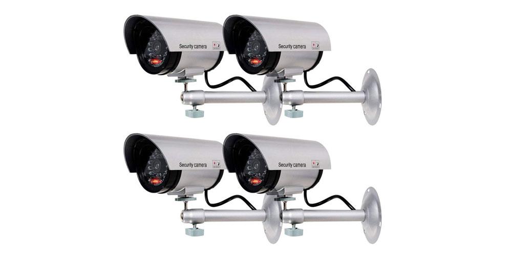 WALI Bullet Dummy Fake Surveillance Security CCTV Dome Camera-image
