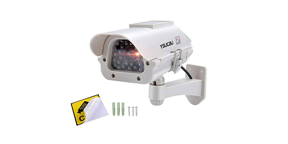 YSUCAU Solar Powered CCTV Security Camera-image