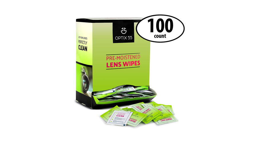 Optix 55 Pre-Moistened Lens Cleaning Wipes Image
