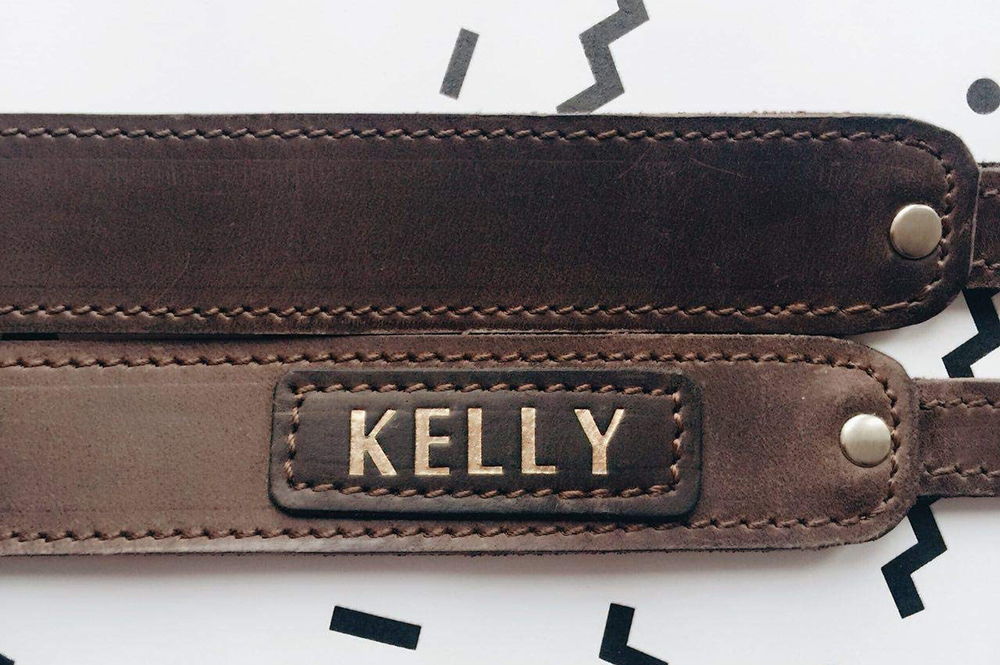 Personalized Leather Camera Neck Strap Image