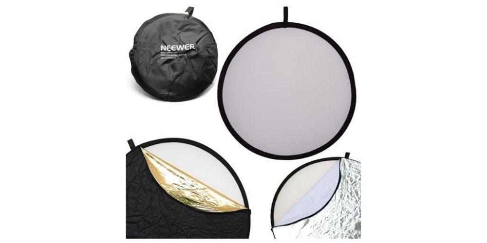 "Neewer 43""/110cm 5-in-1 Collapsible Multi-Disc Light Reflector Image"