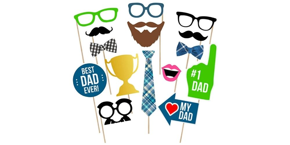 BinaryABC Father's Day Photo Booth Props Image
