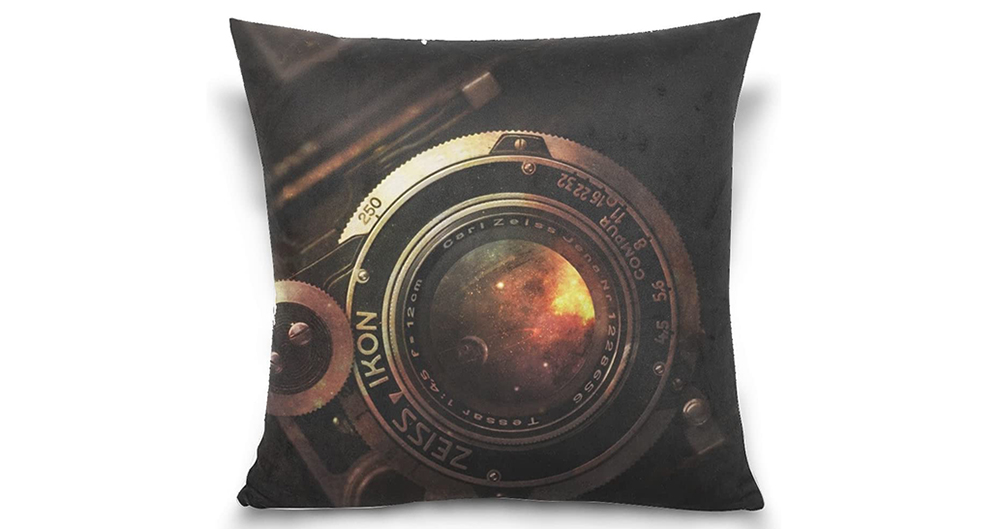 Camera Lens Vintage Rarity Throw Pillow Case Image