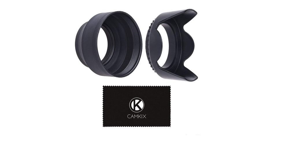 Camkix Rubber Camera Lens Hood 77mm - Set of 2 Image