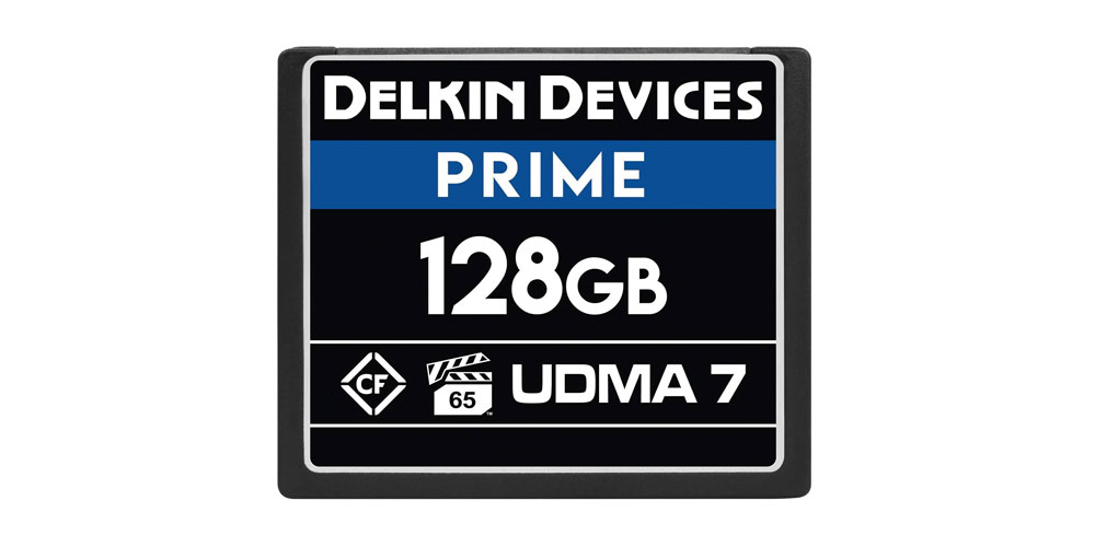 Delkin Devices 128GB Prime CompactFlash VPG-65 Memory Card Image