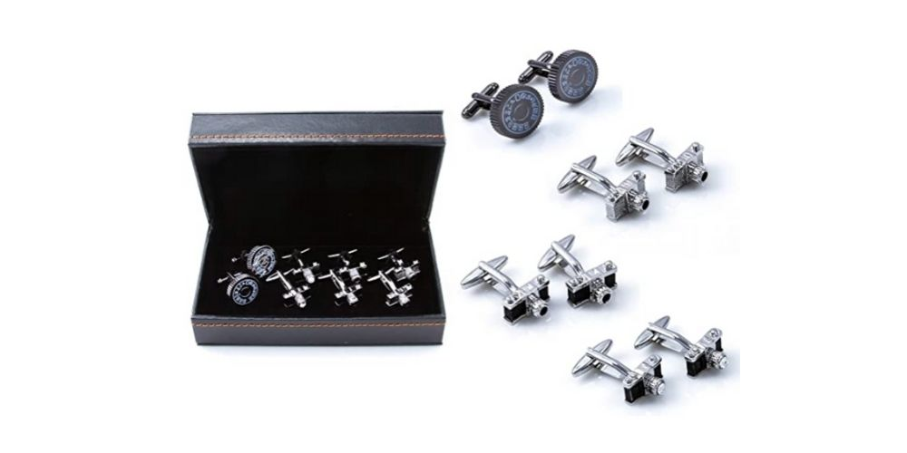 MRCUFF Assorted Camera Cufflinks Gift Set Image