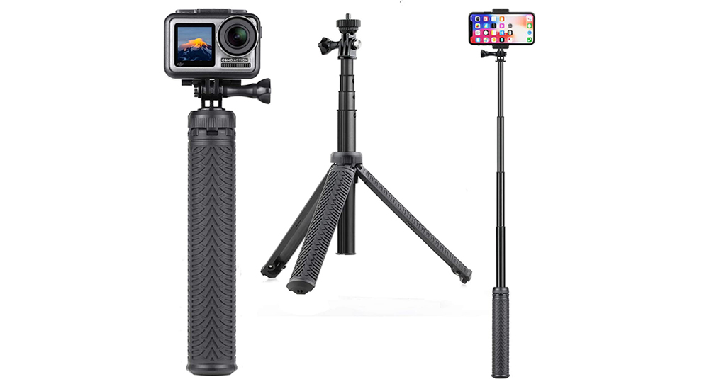 SOONSUN 3-in-1 Aluminum Telescoping Selfie Stick Image