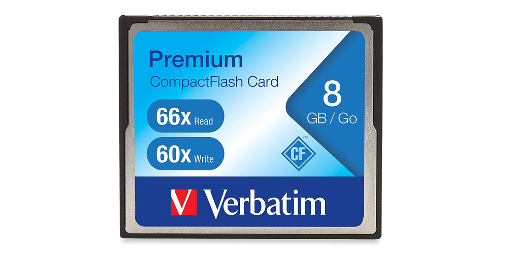 Verbatim 8GB 66X Premium Compact Flash Memory Card Image