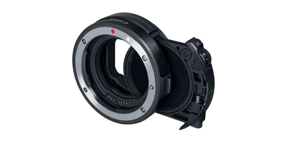 Canon Drop-in Filter Mount Adapter EF-EOS R with Drop-in Circular Polarizing Filter A Image