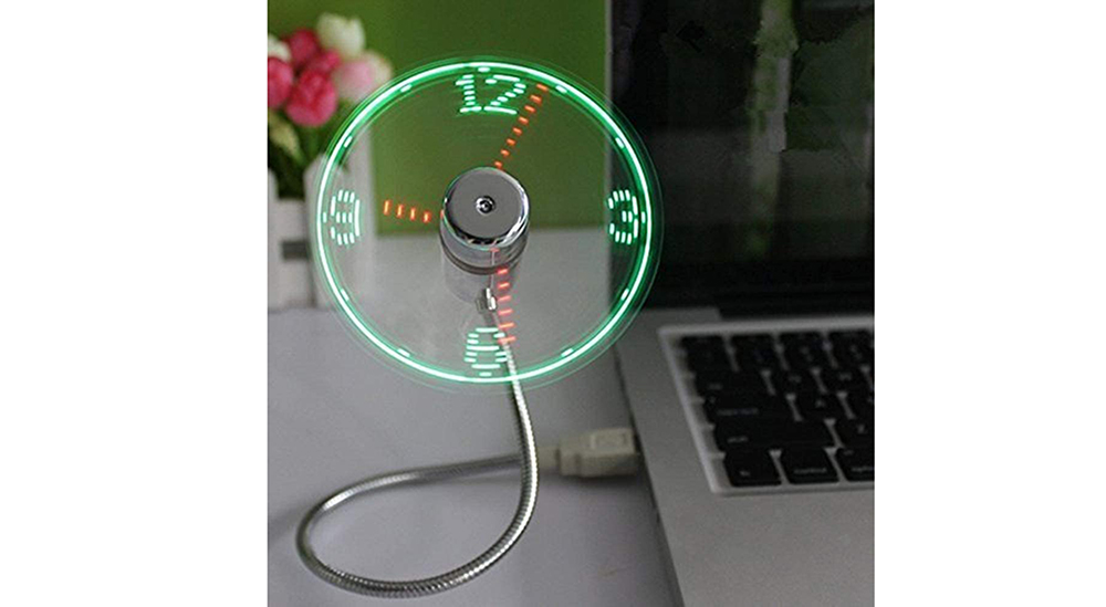 ONXE USB LED Clock Fan Image