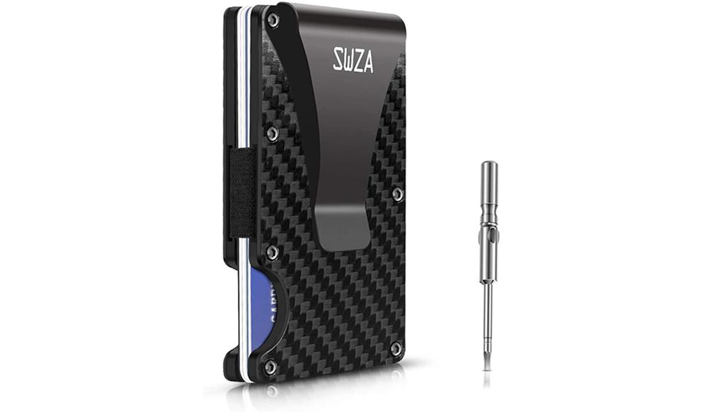 SWZA Carbon Fiber Minimalist Wallet Image
