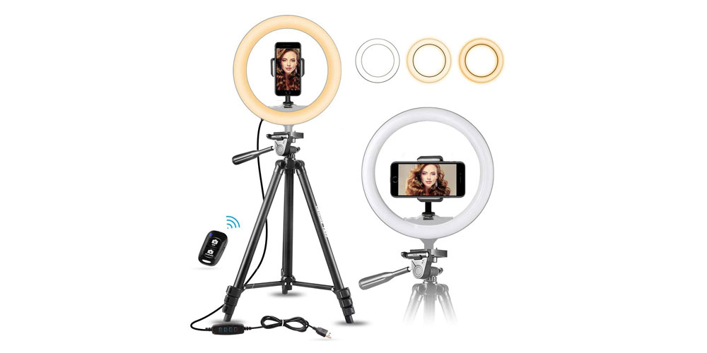 UBeesize 10.2-Inch Selfie Ring Light Image