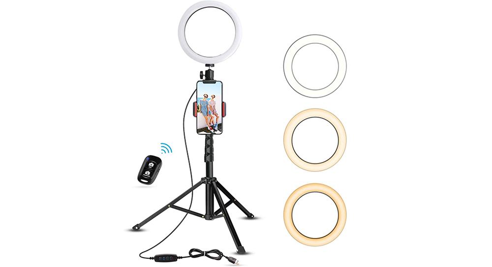 "UBeesize 8"" Selfie Ring Light Image"