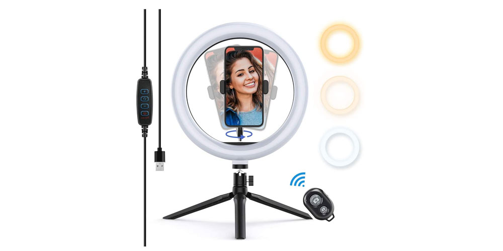 Yoozon 10-Inch LED Ring Light Image