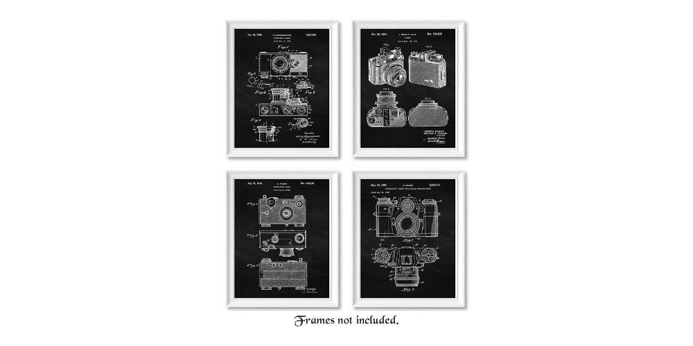 Vintage Classic Camera Patent Poster Prints Image