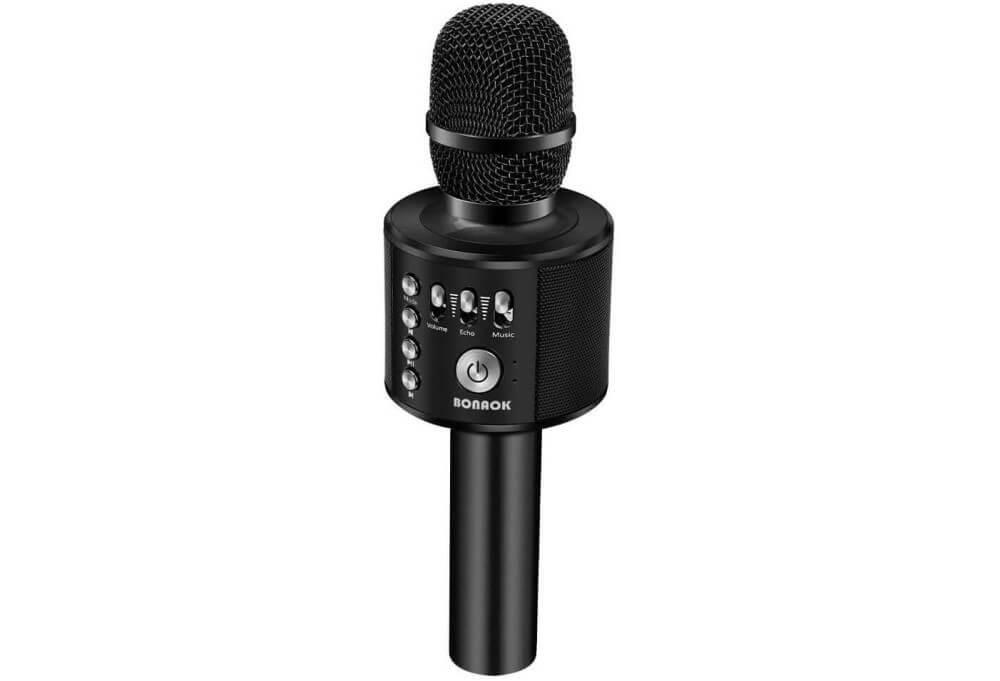BONAOK Wireless Bluetooth Karaoke Microphone Image