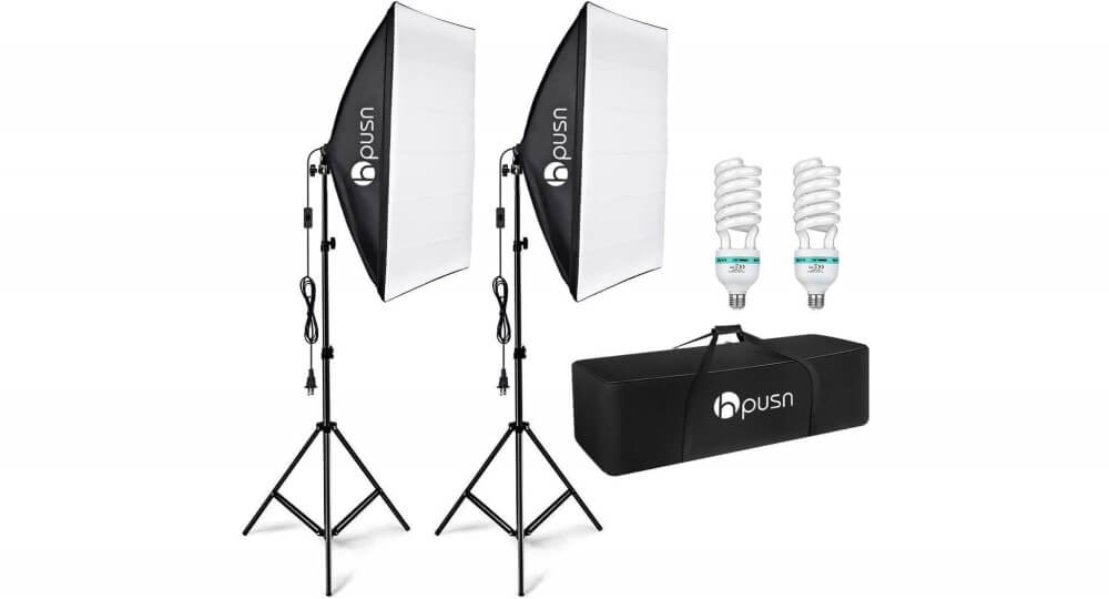 Hpusn Softbox Lighting Kit Image