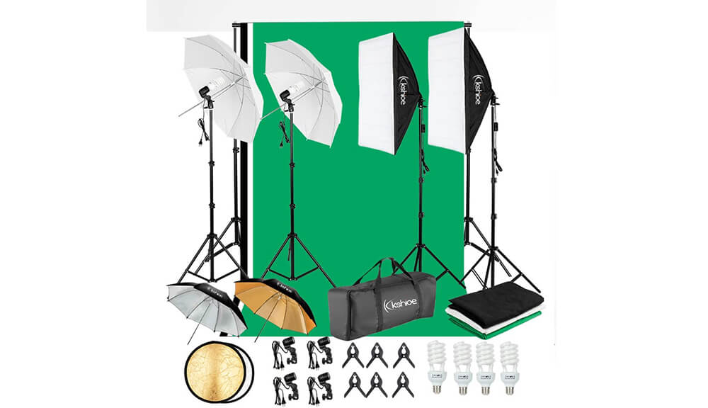 Kshioe Lighting Kit with Background Support System Image