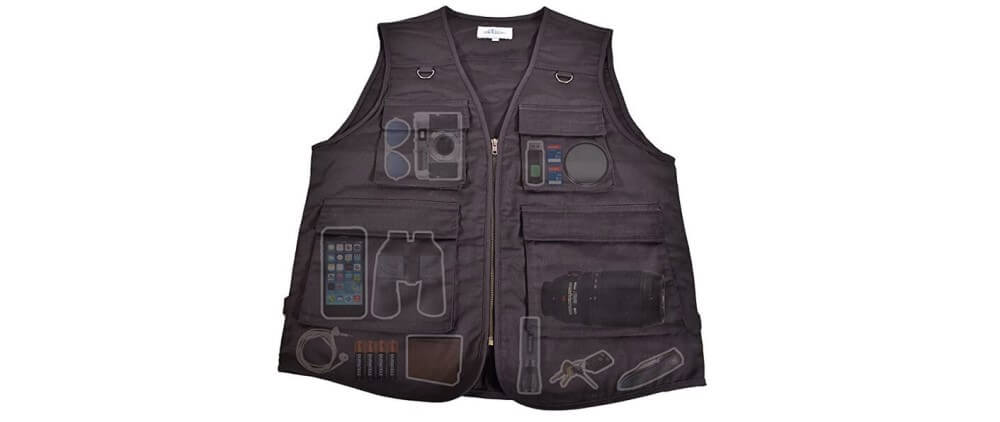 Nate's Leather Co. Outdoor Safari Photographer's Vest Image