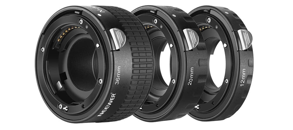 Neewer 12mm, 20mm, 36mm AF Auto Focus ABS Extension Tubes Set for Nikon Image