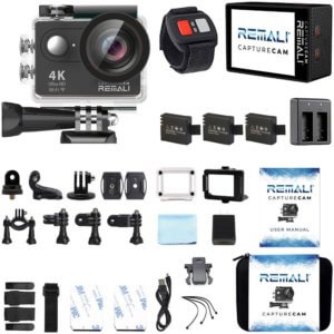 REMALI CaptureCam Waterproof Sports Action Camera Kit Image