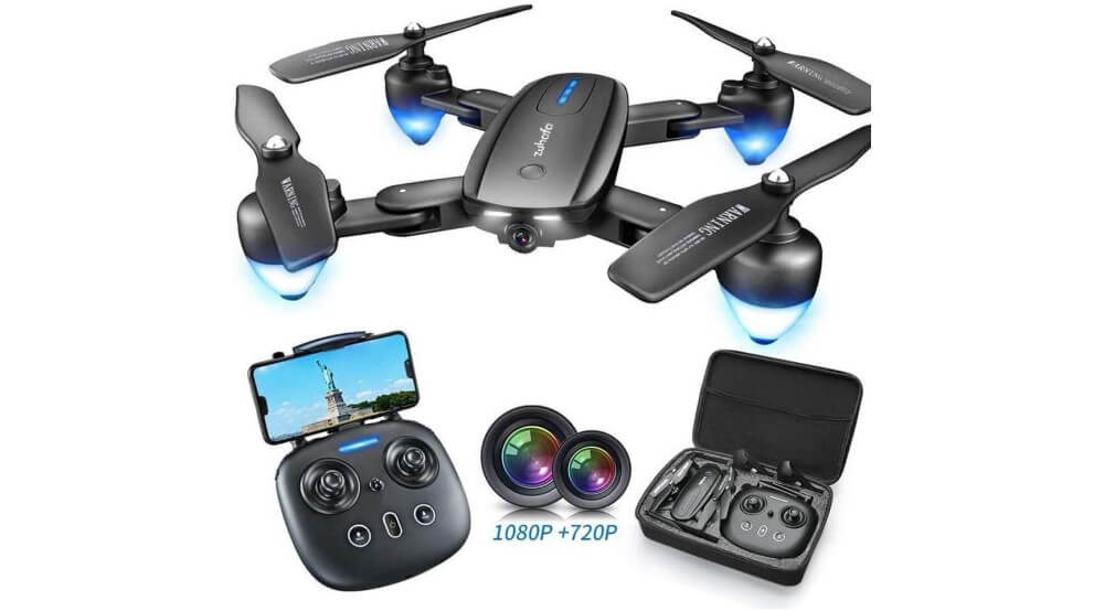 Zuhafa T4 Foldable Drone with 1080P HD Camera Image
