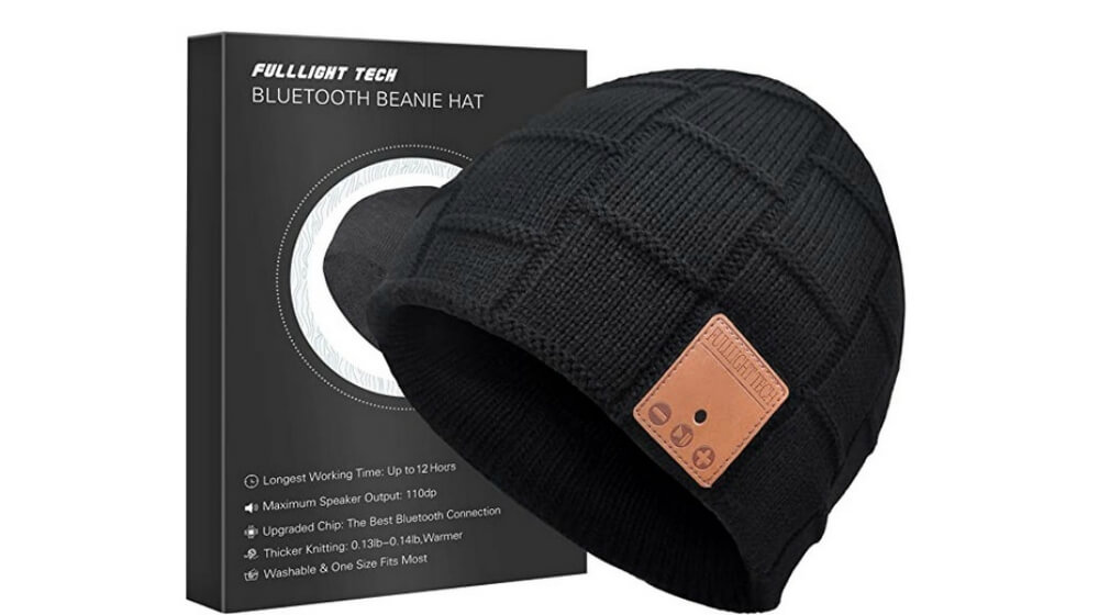 FULL LIGHT TECH Upgraded Bluetooth Beanie Hat with Headphones Image