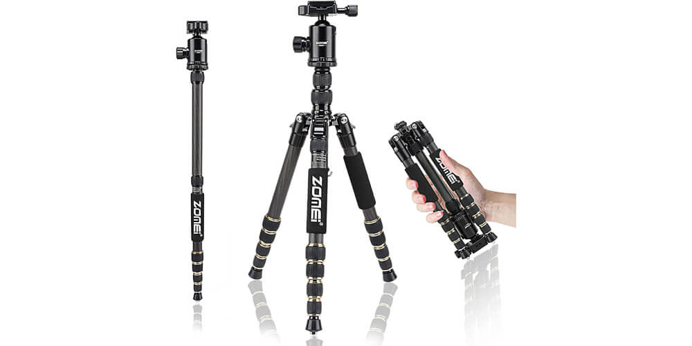 ZOMEi Z699C Ultra Travel Tripod with Twist Locks Image
