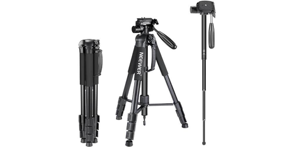 Neewer Portable Aluminum Alloy Camera 2-in-1 Tripod Monopod Image