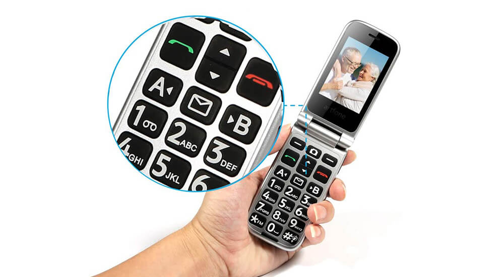 artphone Senior Flip Cell Phone Image